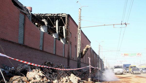 Цинковый завод в Челябинске после падения космического объекта
