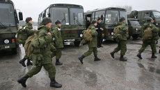 Группа призывников прибыла в Калининград для прохождения срочной службы на Балтийском флоте
