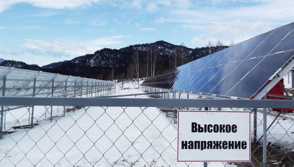 Гибридная электростанция в поселке Алтайского заповедника