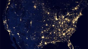 Вид США из космоса. Архивное фото