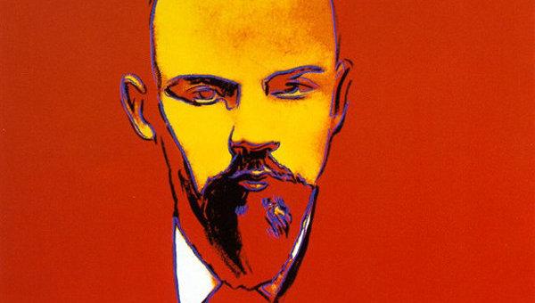 Картина Энди Уорхола Красный Ленин