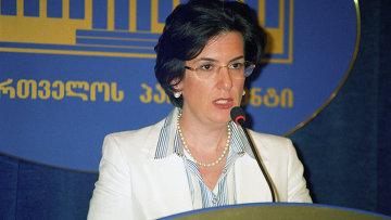 Спикер парламента Грузии Нино Бурджанадзе