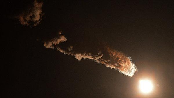 Старт ракеты-носителя Союз с космодрома Байконур. Архивное фото