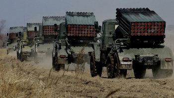 Учения ракетных и артиллерийских подразделений в Приморском крае