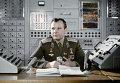 Ю. Гагарин на командном пункте тренажера