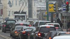 Общественный транспорт на улицах города Москвы. Архивное фото