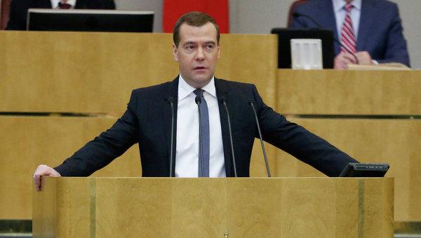 Д.Медведев на пленарном заседании Государственной Думы РФ
