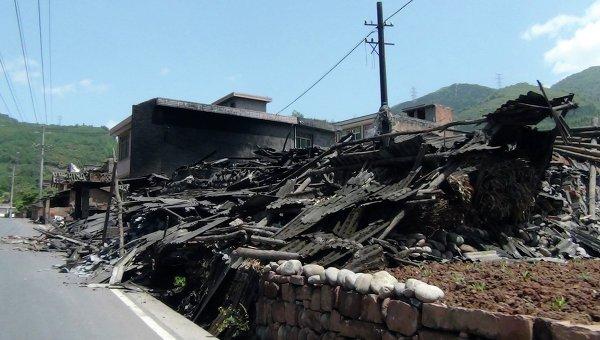 Последствия землятресения в Китае