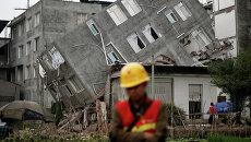 Последствия землетрясения в провинции Сычуань на юго-западе Китая
