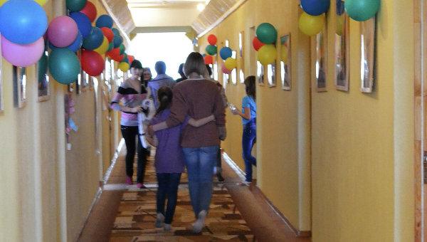 Коридор третьего этажа, где живут участники программы фонда Шередарь