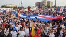 Первомайское шествие в Гаване