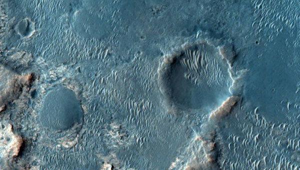 Рельеф Марса с зонда Mars Reconnaissance Orbiter. Архив