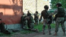 Сотрудники полиции в Назрани. Архивное фото