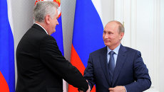 Встреча В.Путина с Т.Николичем. Архивное фото
