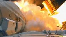 Запуск, полет в космос и вид на Землю впервые засняли с борта ракеты в 3D