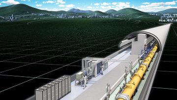 В туннеле Международного линейного коллайдера (ILC)