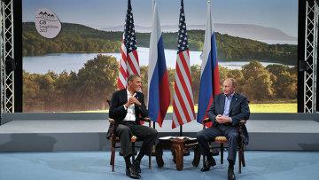 Путин встретился с Обамой в рамках саммита G8