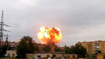 Взрывы снарядов на полигоне в Самарской области. Съемки очевидцев