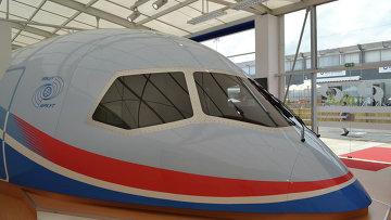 Макет ближне-среднемагистрального пассажирского самолета МС-21. Архивное фото