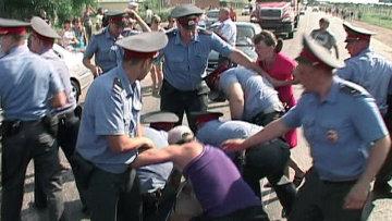 Акции протеста против мигрантов в г. Пугачеве