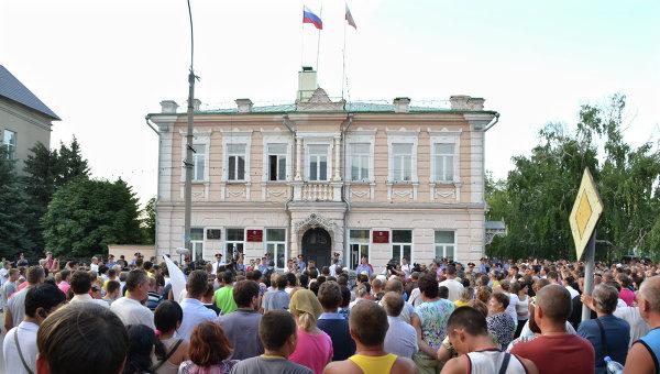 Народный сход в Пугачеве