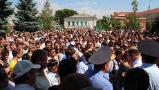 Акция протеста против мигрантов в г. Пугачеве, архивное фото