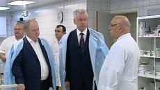 Собянин навестил в больнице пострадавших в ДТП под Подольском