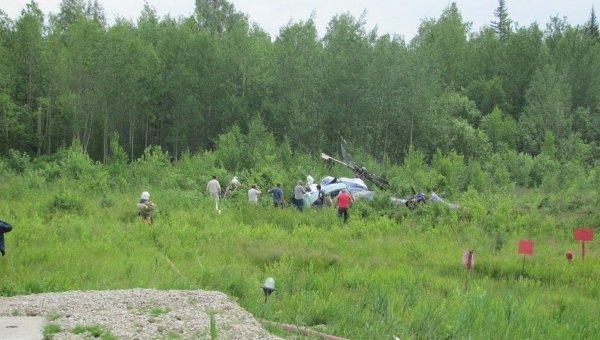 Черные ящики найдены на месте крушения Ми-8 под Томском ...: http://ria.ru/tomsk/20130716/950034354.html