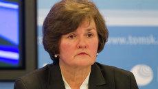 Начальник областного департамента соцзащиты Ирина Трифонова