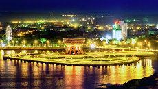 Вид на новый дворец бракосочетаний Казан