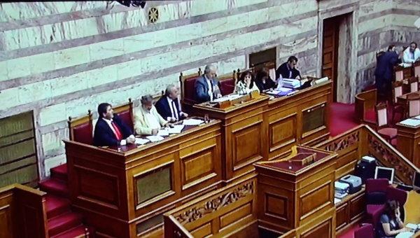 Парламент Греции Парламент Греции принял законы для получения кредита на 6,8 млрд евро