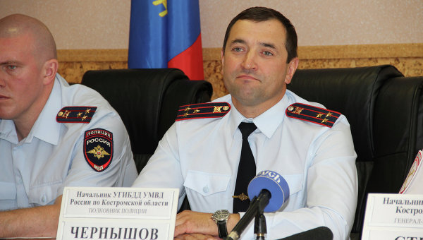 Начальник УГИБДД Костромской области Сергей Чернышов