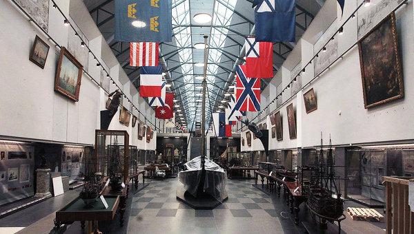 Центральный военно-морской музей в Санкт-Петербурге. Архивное фото