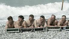 На пляже санатория Тихий Дон