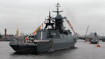 Репетиция парада ко Дню ВМФ в Петербурге