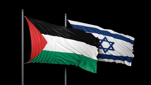 Флаги Израиля и Палестины. Архивное фото.