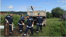 Работы спасателей в Чугуевском районе Приморья