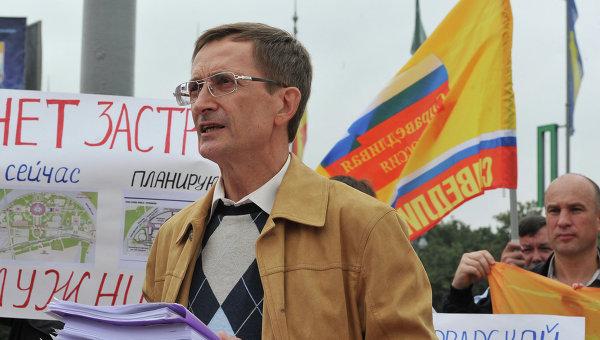 Кандидат в мэры Москвы Николай Левичев принял участие в пикете