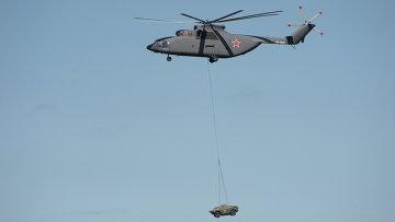 Вертолет Ми-26 на российско-китайских учениях. Архивное фото