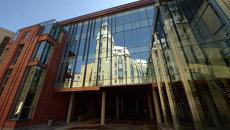 Вид здания второй сцены Александринского театра в Санкт-Петербурге. Архивное фото