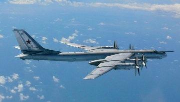 Ту-95 в воздушном пространстве Японии. Архивное фото