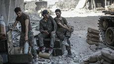 Сирийская армия в пригороде Дамаска