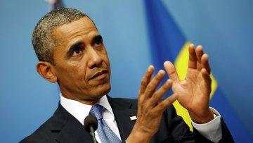 Президент США Барак Обама в Швеции