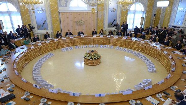 Второе рабочее заседание участников саммита Группы двадцати