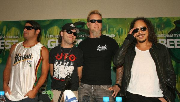 Участники рок-группы Металлика. Архивное фото, 2007 год