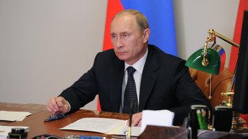 В.Путин провел телемост с С.Шойгу