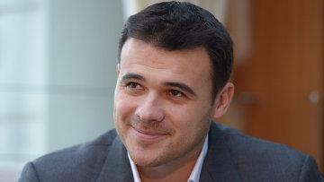 Вице-президент Crocus Group Эмин Агаларов во время общения с прессой в ресторане Rose Bar, событийное фото