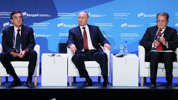 В.Путин на заседании дискуссионного клуба Валдай, фото с места события