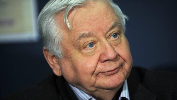 Председатель жюри конкурса юных чтецов Живая классика Олег Табаков