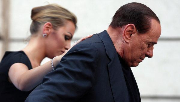 Экс-премьер Италии Сильвио Берлускони со спутницей Франческой Паскали